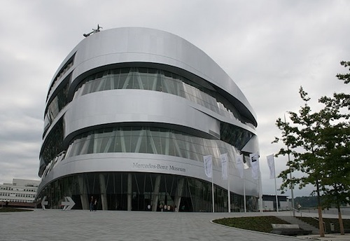 Mercedes Benz Museum Near The Gottlieb Daimler Stadium In