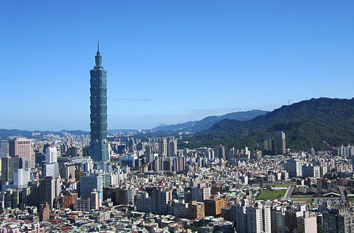 Skyline of Taipei with the Taipei 101