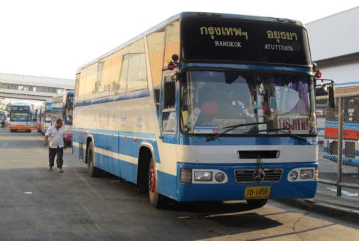 Bus from Bangkok to Ayutthaya