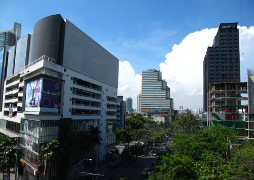 The Ekkamai area in Bangkok