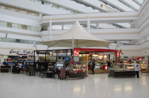 The coffee shops in the ground floor Bangkok Immigration