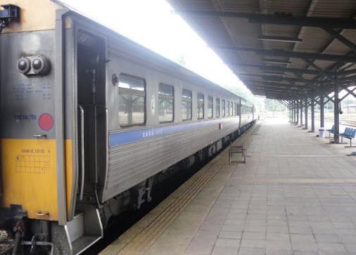 Train at Surat Thani train station