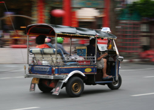 Tuk Tuk typical way of Transport bangkok