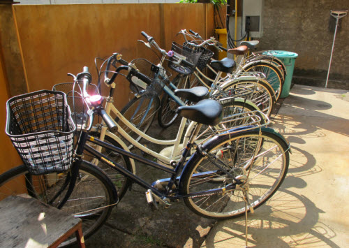 Bicycles at the Chiang Mai Sawasdee Guesthouse