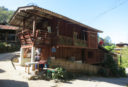 Typical house in Mae Kampong