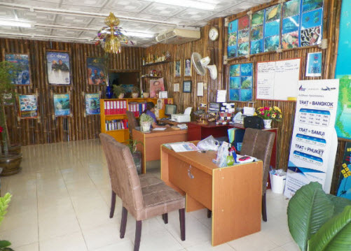 At the office of Sea and Sun Divers on Koh Chang