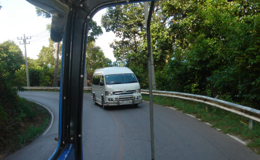 On the road on Koh Chang Island
