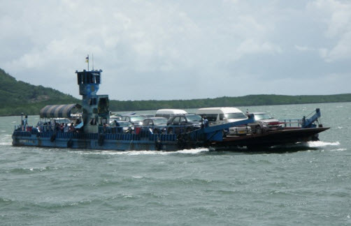 The Car Ferry to Koh Lanta - Arrival