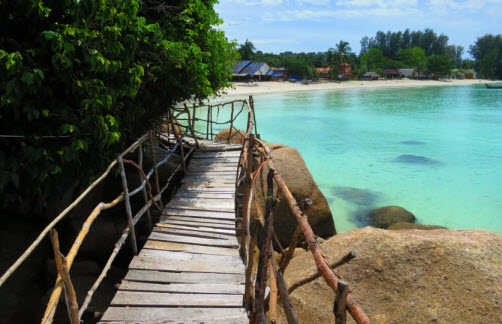 Walkway between Pattaya Beach and Sanom Beach