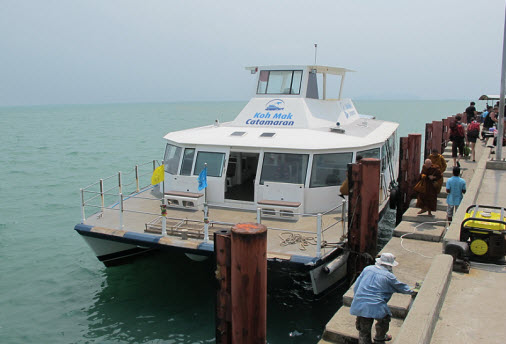 The Koh Mak Catamaran at Laem Sok Pier