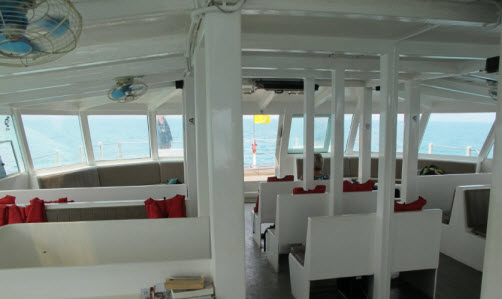 Inside the Koh Mak Catamaran Thailand