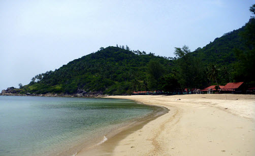 Bottle beach on Koh Phangan Island Thailand