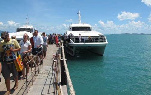 Arriving on Koh Samui with Lomprayah