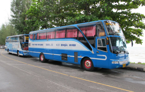 Buses at The Koh Samui Public