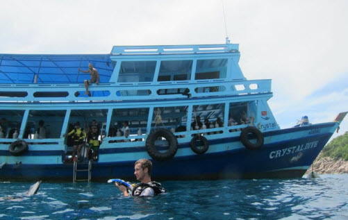 Boat used by Chrystal Dive Resort on koh Tao