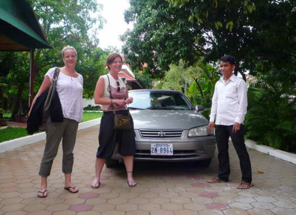 Taxi in Cambodia from Poipet to Siem Reap