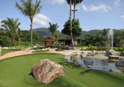 Nicely designed course at Phuket Adventure Minigolf