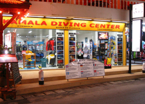 Kamala divers shop Phuket