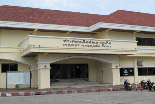 The rasada port building on Phuket