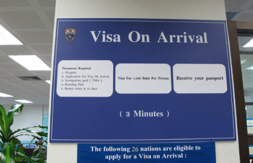 Thailand visa on arrival review