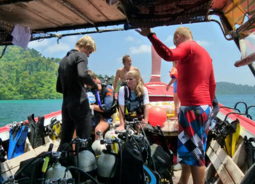 to do in trang area diving with chill out divers