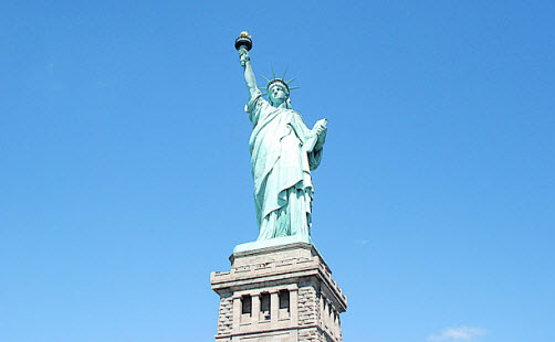 The Staue of Liberty on liberty Island New York