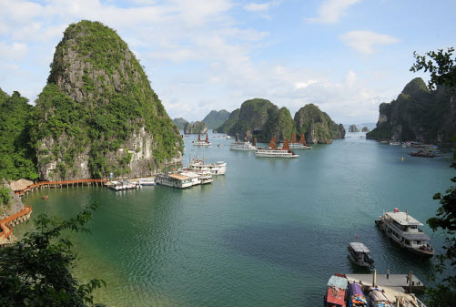 View of Ha Long Bay from the Sung Sot Cave