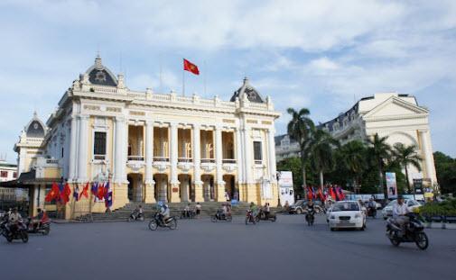 The Hanoi Opera House At French Quarter