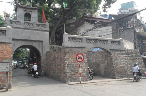 The Old East Gate at the Old Quarter in hanoi