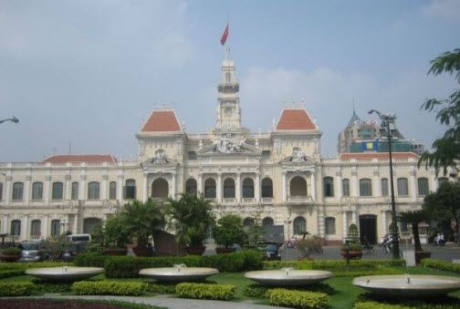 City Hall Ho Chi Min City Vietnam