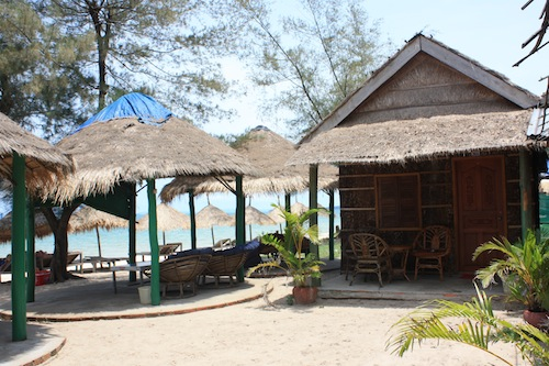 Restaurant At Mien Bungalow Otres Beach Sihanoukville Cambodia