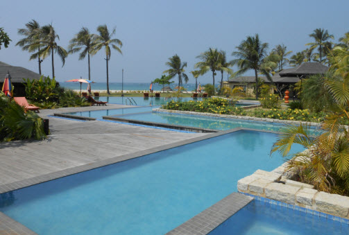 Pool At The Bay Of Bengal Resort Northern Ngwe Saung Beach