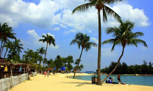 Siloso Beach At Sentosa Singapore