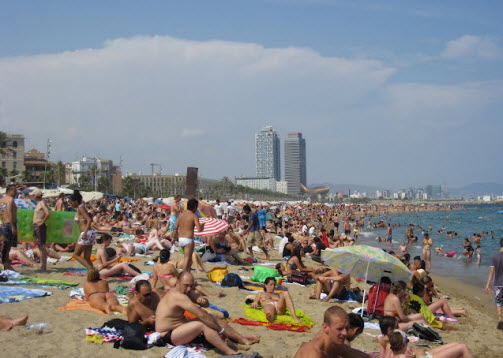 Barcelonetta Beach In Barcelona Spain